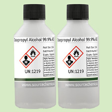 Isopropyl Alcohol (Isopropanol) 99.9% 2 x 100ml (200ml) Including Delivery
