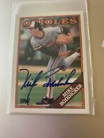 Mike Boddicker 1988 Topps Autographed # 725 Orioles Signed In Person Tough auto