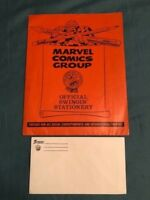 Vintage 1967 Stan Lee MERRY MARVEL MARCHING SOCIETY Folder & THE THING Envelope