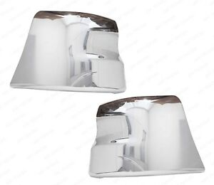 QSC Chrome Extension Corner Bumper Left Right for Freightliner Columbia 01-17