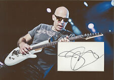 JOE SATRIANI Signed 12x8 Photo Display SURFING WITH THE ALIEN & G3 COA