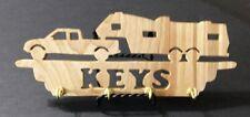 "Wood ""Fifth Wheel Camper Key Holder"" Scroll Saw Piece - Handmade - Clear Coat"