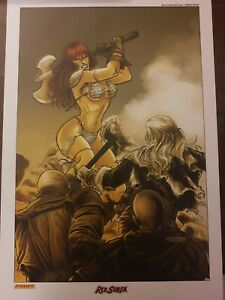 Red Sonja rare comic art print