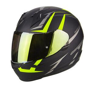 Casco moto Integrale Scorpion EXO 390 HAWK 39-264 Nero Opaco Giallo outlet