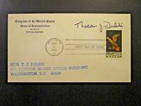 US 1968 Register / Vote FDC w/ US House Rep T J Dulski Signature - Z4775