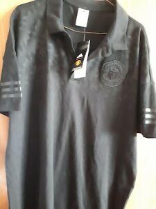 Adidas Man Utd xl black polo shirt