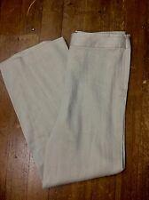 Giorgio Armani 14/48 Beige Ramie Silk Pants Trousers Slacks Natural Fiber Italy