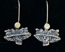 Mexican Sterling Silver La Catrina Day of the Dead Earrings