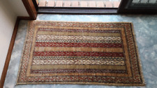 Indoor Mat Carpet Afghan Persian Handmade knotted Rug Morocco indian 60x100 cm