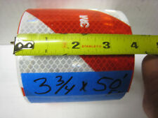 "RED WHITE DIAGONAL STRIPE Reflective   Conspicuity Tape 3-3/4""x50'"