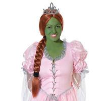 Princesa Peluca con Tiara Belleza Fiona Accesorio de disfraz