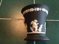 Vase Black Vintage Original Wedgwood Porcelain & China