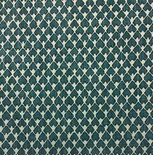 BALLARD DESIGNS HARPER TEAL BLUE-GREEN BROKEN ARROW GEOMETRIC FABRIC BY YARD