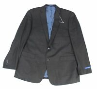 Vince Camuto Mens Blazer Gray Size 48 Long Two Button Modern Fit Wool $225 #545