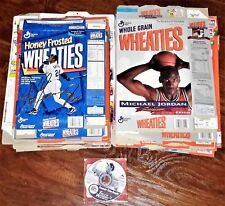 45 1990s WHEATIES BOXES ALL SIZES, MICHAEL JORDAN, KEN GRIFFEY, GEHRIG, PAYTON +