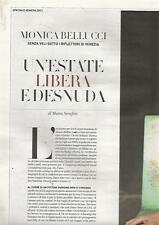 SP30 Clipping-Ritaglio 2011 Monica Bellucci Un'estate libera e desnuda