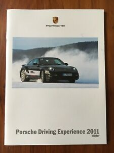 Porsche Driving Experience 2011 Winter Brochure - White Soft Cover