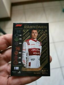 Topps Turbo Attax F1 limited édition LE5G  Kimi Raikkonen