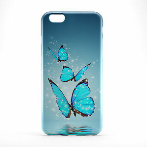 Blue Butterfly Printed Phone Case Cover for Samsung S5 Note 5 iPhone 6 6plus
