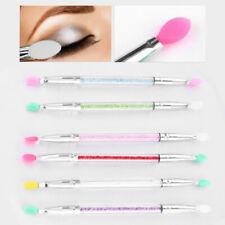 Double-end Brushes Eye Shadow Eyeliner Sponge Applicator Profession Makeup Brush