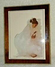 "R.C.Gorman ""Native American Madonna"" 1973 Southwest Art Print Small Plaque"