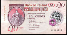 More details for bank of ireland ltd belfast £10 ten pound banknotes 2017 new polymer issue