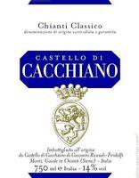 6 bt. CHIANTI CLASSICO DOCG 2013 CASTELLO DI CACCHIANO