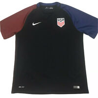 Nike Mens USA Soccer Jersey 2016 US National Team Black USMNT Size Large. C9