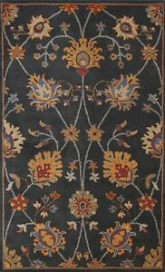 Transitional Assorted Floral Oriental Area Rug Hand-tufted Kitchen Carpet 5'x8'