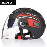 Motorcycle Helmet Open Face Dual Visors Summer Scooter Electric Motorbike Helmet