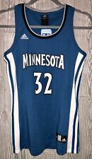ADIDAS Timberwolves #32 Towns Replica Road Blue Basketball Jersey NEW Womens S