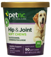 PetNC Natural Care Hip and Joint Soft Chews for Dogs, 90 Count FREE SHIPPING!
