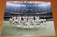 Oakland Raiders Super Bowl XV Offensive Line unsigned color 8x10 photo 1980 seas