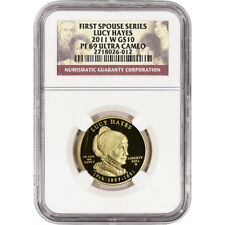 2011-W US First Spouse Gold (1/2 oz) Proof $10 - Lucy Hayes - NGC PF69 UCAM