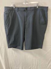 Hickey Freeman Men's Hybrid Chino Shorts, Gray, 40