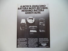 advertising Pubblicità 1980 HEUER MICROSPLIT 231/221