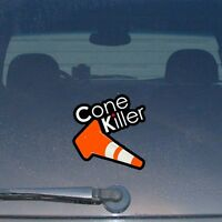 """Cone Killer Funny JDM Drift Track Racing Dope Low Vinyl Decal Sticker 5"""""""