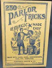 250 Parlor Tricks or Magic Made Easy