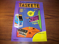 KARATECO TASKETE VIDEO ARCADE GAME FLYER BROCHURE 1980