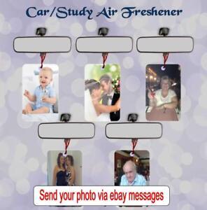 PERSONALISED PHOTO ON CAR/OFFICE/STUDY AIR FRESHENER   VANILLA YLANG CHOCOLATE