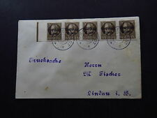 Cover Germany 5 Strip Unperforated Bolfstaat Bayern Immenstadt Lindau 1920