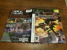 Shadow The Hedgehog Original Xbox Game Insert Only