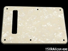 *NEW LEFTY Aged Pearloid TREMOLO BACK COVER for Fender Stratocaster Strat 3 Ply