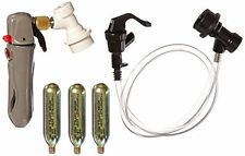 Co2 Keg Charger - Ball Lock Connection Picnic Faucet Dispenser & 3 Co2 Cartridge