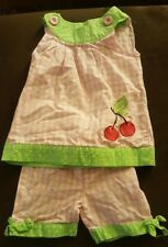 Buster Brown, summer 2 piece outfit, girl size 12 months