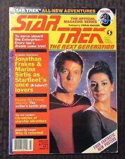 1988 March Official STAR TREK The Next Generation Magazine VG 4.0 Marina Sirtis