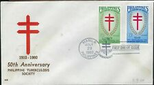 PHILIPPINES FDC -  50TH ANNIV. PHILIPPINE TUBERCULOSIS SOCIETY  - CACHETED!