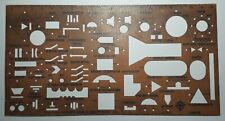 VINTAGE DRAFTING TEMPLATES rule figure USSR Soviet STENCIL electrical circuit