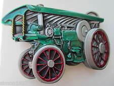 Traction engine belt buckle showmans engine steam engine.