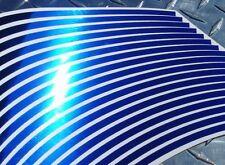 BLUE Chrome Rim Stripes Tape R1 R6 FZ6 GSXR 300 ZX6 ZX10 ZX12 ZX14 Z1000 CBR 675